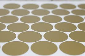 gold wall decal dots easy to l
