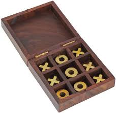 Wooden Othello Board Game Craft Art India Wooden Tic Tac Toe Puzzle Indoor Outdoor Game 79