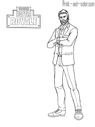 Fortnite Coloring Pages Easy