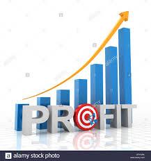 Target Profit Growth Chart 3d Render Stock Photo 78667195