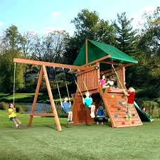 swing set kits home depot building wooden wood n slide complete ready to b