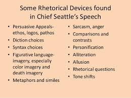 chief seattle rhetorical devices prompt  6 some rhetorical devices found in chief seattle s