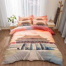 palace bedding set twin queen king size duvet cover bed sheets pillowcase oriental and western 3d scenic printed textile sets canada 2019 from baolv