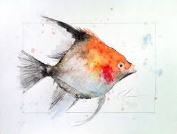 image result for fish watercolor painting