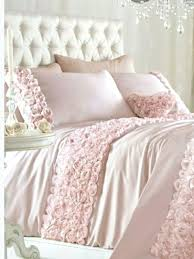 baby pink bedding pink double duvet quilt cover bed set bedding raised rose ribbon interesting girly
