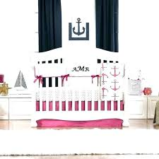 l baby bedding sets girl crib nautical bedd pink and navy nautical baby shower with designs girl bedding