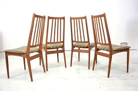 set of 4 vine high back danish teak dining chairs with decorations 6 home dining room