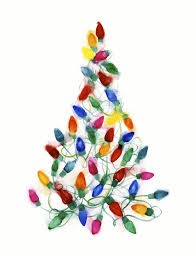 Christmas Lights Watercolor Christmas Light Tree Watercolor On Paper By Shana Frase
