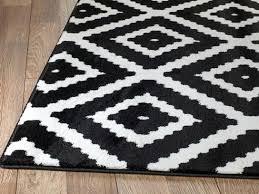 summit black white geometric area rug and chevron uk