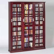 media storage cabinets dame triple wall rack media storage in dark cherry solid wood media storage