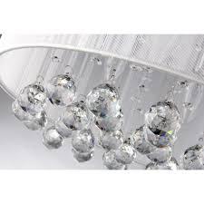white drum light belle 4 light white drum chrome flush mount crystal chandelier ceiling fixture white