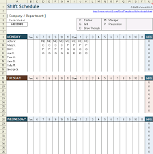 Schedule Document Template Free Employee Shift Schedule Template For Excel