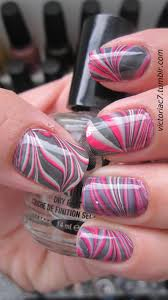 Easy Water Marble Nail Art Technique | Water marble nails, Marble ...