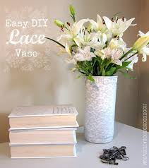 View in gallery DIY Painted Lace Vase