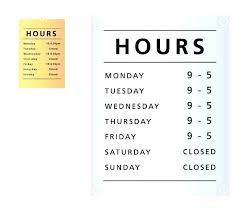 Closed Signs Template Closed Sign Printable Business Hours Office Template