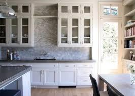 white kitchens backsplash ideas. Brilliant Backsplash Wooden Floor Grey Stony Backsplash White Daisy Door Intended Kitchens Ideas C