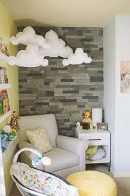 diy baby furniture. 19. Adorable Clouds And Stone Wall In A Nursery Nook Diy Baby Furniture 2