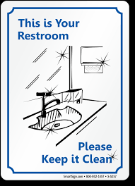 signs for office bathroom etiquette. zoom, price, buy signs for office bathroom etiquette t