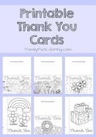 Printable Thank You Cards For Teachers Printable Thank You Cards To Color Familyfuncoloring