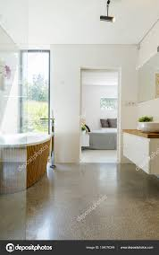 spacious all white bathroom. Modern Spacious White Bathroom \u2014 Stock Photo All N