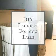 laundry table sorter with top folding storage diy