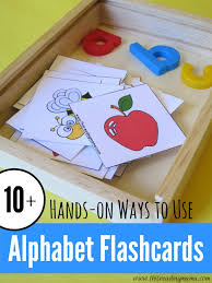 Here are four sets of picture cards for the alphabet. 10 Ways To Use Alphabet Flashcards