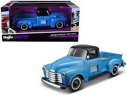 1950 Chevrolet 3100 Pickup Truck Blue Madeira Surf Club /24 Diecast ...