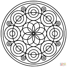 Small Picture Spiral Mandala coloring page Free Printable Coloring Pages