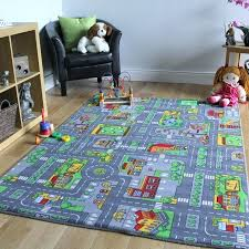 car area rug kids city play mat fun town cars village road car area rug