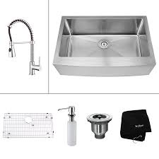 Lowes Farmhouse Kitchen Sink Shop Kraus Kitchen Combo 2075 In X 329 In Steel Stainless Single