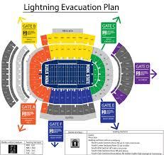 A Map Of Beaver Stadium Depicting The Evacuation Plan Flickr