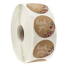 BATEER 1 Inch Thank You Stickers Kraft Round Foil ... - Amazon.com