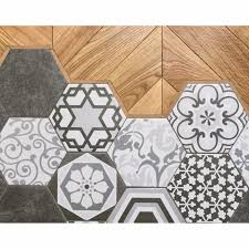 china grey cement flower pattern hexagon wall and floor decor tile china hexagon floor tile cement tiles