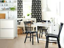 Dining Room Ideas Ikea A White Table With Two Drop Leaves In Small  Monochrome Living Space ...