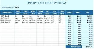 Daily Work Schedule Template Impression Employee Alternative Besides