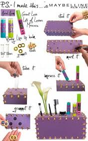 diy makeup organizer from a foam box all you need is a colored foam box