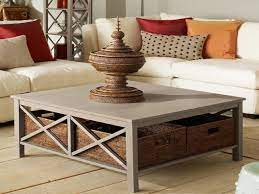 large square coffee table with drawers
