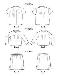 Blouse Sewing Pattern Interesting Digital Music Class Blouse Skirt Sewing Pattern Shop Oliver S