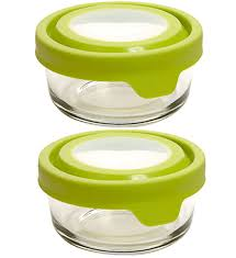 glass food storage containers 1 cup set of 2 image