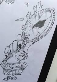 ornate hand mirror drawing. Brilliant Mirror Fancy Hand Mirror Ornate Vintage Broken  Ink  Drawings Pinterest Inside Drawing R