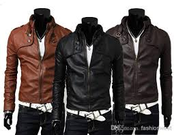 mens jackets fashion mens pu leather and warm coats with zipper hot male long sleeve and slim jackets black jackets leather er jacket from fashionwest