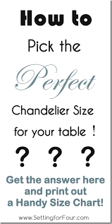 how to pick the perfect chandelier size for your table with free printable size chart