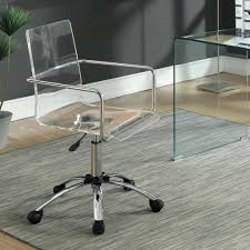 acrylic furniture uk. Coaster Office Chair Chairs Acrylic With Steel Base Fine Furniture Uk Caster W O