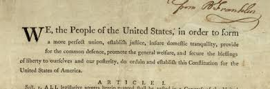 the new nation the gilder lehrman institute of preamble of the us constitution inscribed by benjamin franklin to jonathan williams printed by
