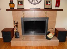 image of how to reface a refinish brick fireplace with tile