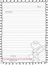 letter writing paper printable second grade slide 5 plete more