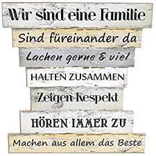 Holzschild Vintage Stil Mit Sprüchen Wir Sind Eine Familie