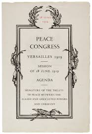 treaty of versailles and president wilson and gilder  peace congress versailles 1919 session of 28 1919 agenda gilder lehrman collection the treaty