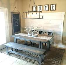rustic dining room lighting diy wide plank shiplap accent wall in kitchen hanging light table full