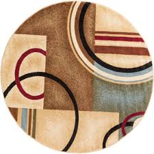 well woven barclay arcs and shapes ivory 5 ft modern geometric round area rug